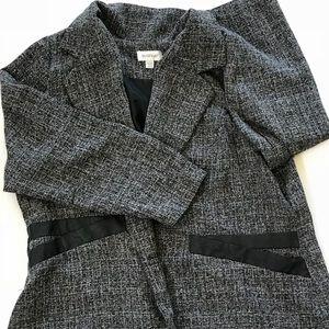 Avenue Black White Tweed 2 Button Blazer Size18-20